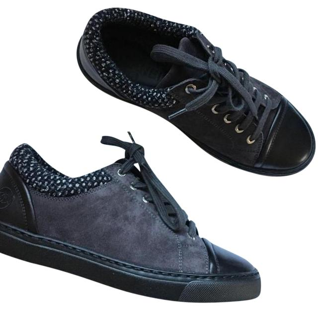 Item - Grey Suede Tweed Low Top Lace Up Sneakers Boots/Booties Size US 10 Regular (M, B)