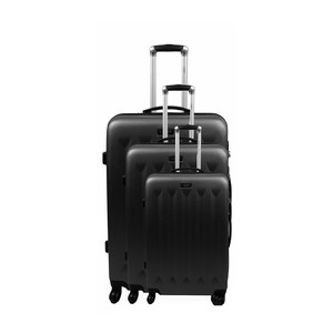 Jean-Louis Scherrer Jean Louis Scherrer Rosalia 3 Pieces Luggage Set (Black)
