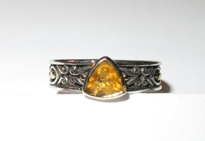 Ed Hardy Ed Hardy Citrine, silver, and 18k ring