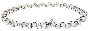 40,Ct,Diamond,14,K,White,Gold,Womens,Ladies,Bracelet