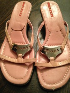 Prada pink and silver Sandals