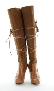 SCHUTZ Tan Detail Brown Boots