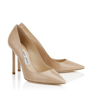 Jimmy Choo Stilletto Patent Leather Romy 100 nude Pumps