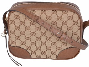 Gucci Crossbody Purse Beige Messenger Bag