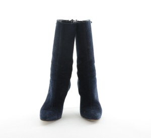Jimmy Choo Suede Navy Boots