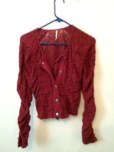 Free People Red Jacket