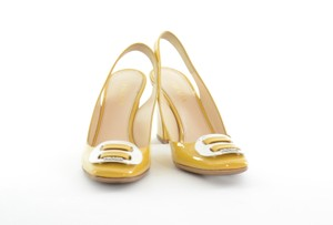 Prada Vintage Yellow Pumps