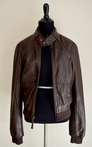 Anthropologie Leather Brown Leather Jacket