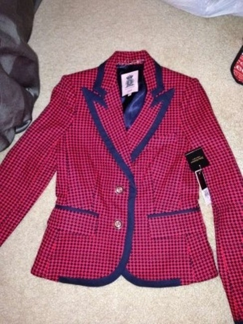 Juicy Couture Red and Navy Blazer