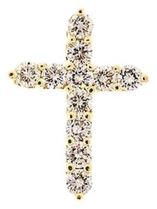 Other 1.10,Ct,Diamond,14k,14,K,Yellow,Gold,Womens,Ladies,Cross,Pendant