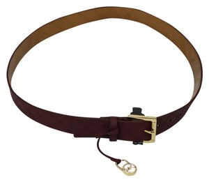 Michael Kors Quilted Saffiano Leather Charm Belt OH377 B444
