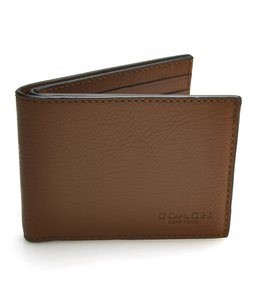 Coach Coach Slim Billfold ID Leather Wallet