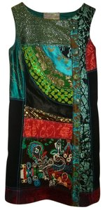 Desigual short dress Multi-Color Sleeveless on Tradesy