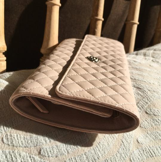 Chanel Chanel Pale Pink Lamb Skin Jewelry Case