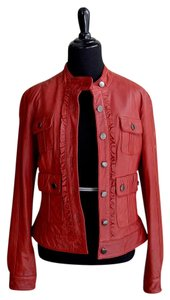 June red Leather Jacket