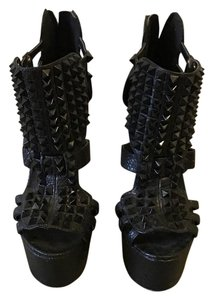 Steve Madden Studded Punk Black Platforms