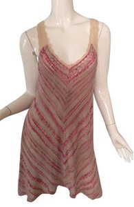 Free People short dress Pink - Gray - Beige Mini Urban Outfitters Sexy on Tradesy