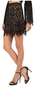 For Love & Lemons Lace Mini Skirt Blac