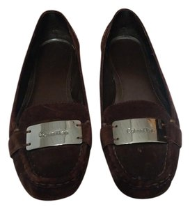 Calvin Klein Ck Suede Loafers Brown Flats