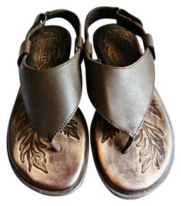 Børn Velcro Strap Ankle Strap Rubber Sole Leather Thong brown Sandals