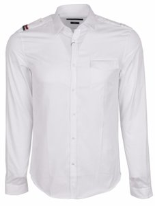 Gucci Men's Tshirt Military Shirt Shirt Button Down Shirt white