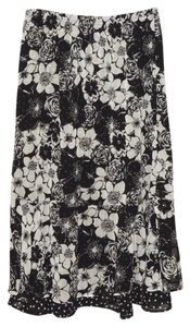 Christopher & Banks Skirt Black & White