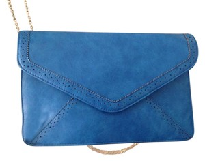 Urban Expressions Hip Stylish Hipster Blue / Cerulean Clutch