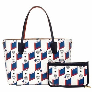 MCM Coated Canvas Shopper Tote