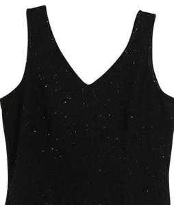 JKara Black Sequin V Back Dress