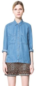 Zara Button Down Shirt BLUE