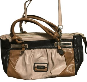 Guess Satchel in Brown And Tan