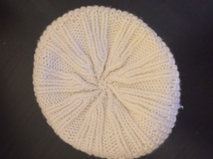 American Eagle Outfitters White Knit Beanie