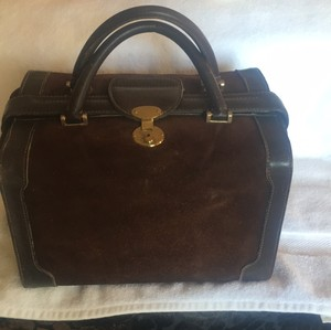 Gucci Train Cosmetic Travel Overnight Brown Travel Bag