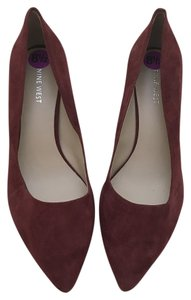 Nine West 3 Inch Heel Pointed Toe New Burgundy Pumps