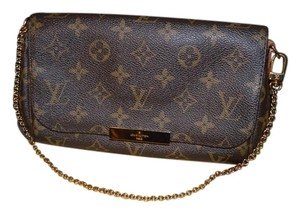 Louis Vuitton 3174024 Mm Logo Lv Mono Monogram Brown Clutch
