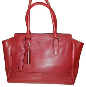 Coach Candace Tassle Tote in Black Cherry