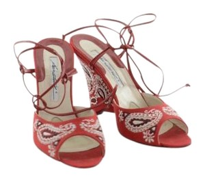 Brian Atwood Western Western Western Red Sandals
