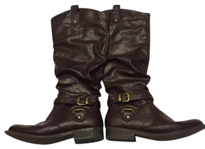 White Mountain Brown Leather Boots