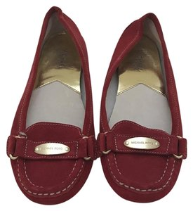 Michael Kors Moccasin Loafer Flat Gold Red Flats