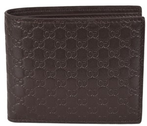 Gucci Gucci Men's 260987 Brown Leather MICRO GG Guccissima Bifold Wallet