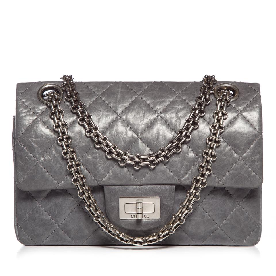 9fa143aa2106 Chanel 2.55 Reissue Quilted 50th Anniv. Ltd. Ed. 224 Flap Gray Aged  Calfskin Shoulder Bag