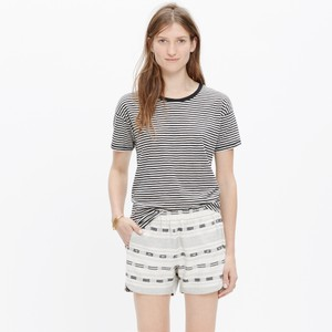 Madewell Mini/Short Shorts Black, white