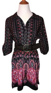 BeBop short dress black-multi Red Pink Boho Shirt Winter on Tradesy