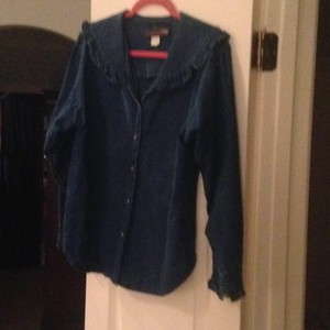 Aintree Button Down Shirt Dark blue denim
