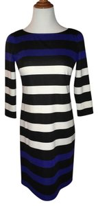 London Times Shift Casual Stripes Preppy Work Dress