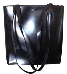 Joop! Handmade All Leather Vintage Couture Tote in Black