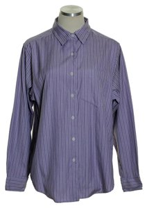 L.L.Bean Button Down Shirt Purple White
