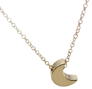 Crescent Moon Gold Chain Necklace. Crecent Moon Necklace.