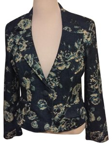 Nine & Co. Blue Floral Blazer