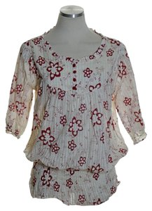 Lucca Top Ivory Red